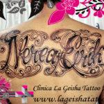 Tatuaje espectacular nombre Nerea con arte personalizado