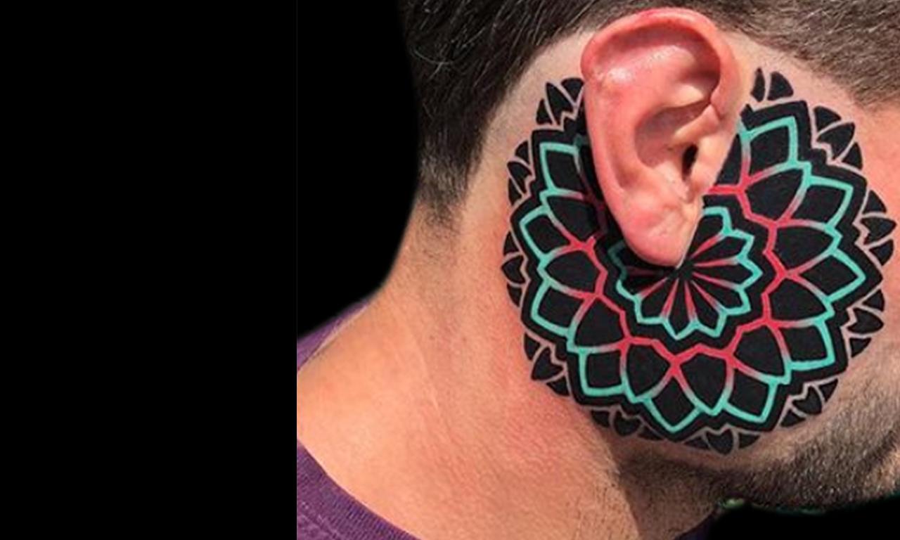 Tatuajes de geometría y puntillismo