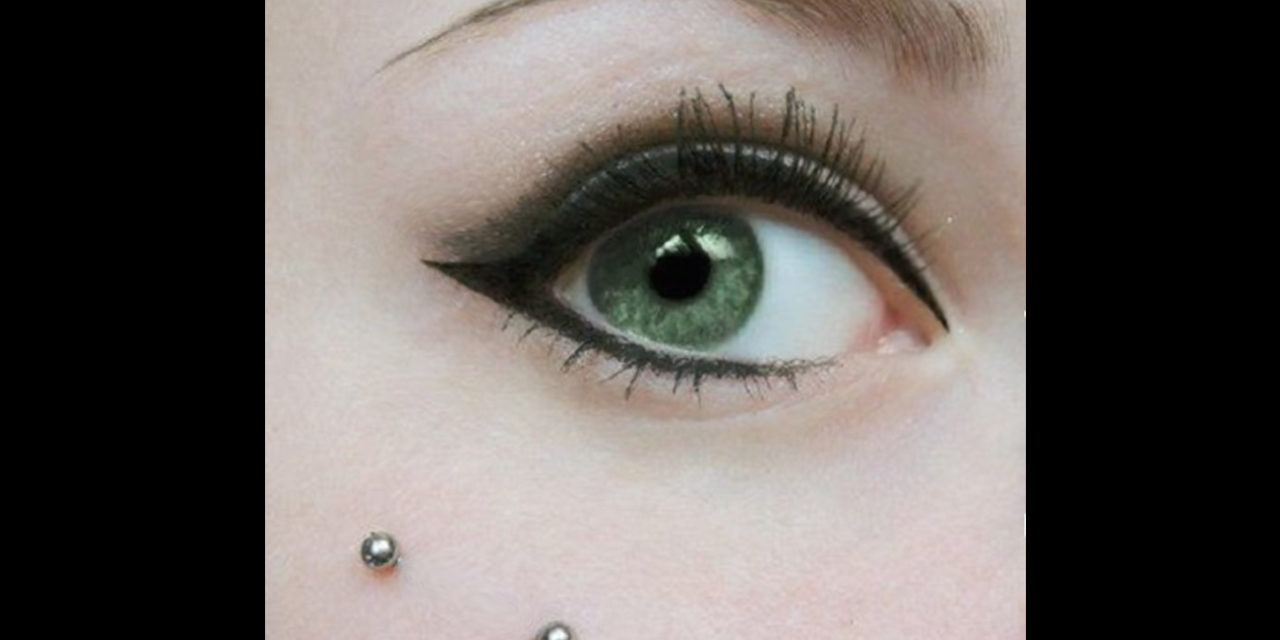 Fantastic idea to be radiant with facial piercing and micropigmentation of eyes with eyelid shading