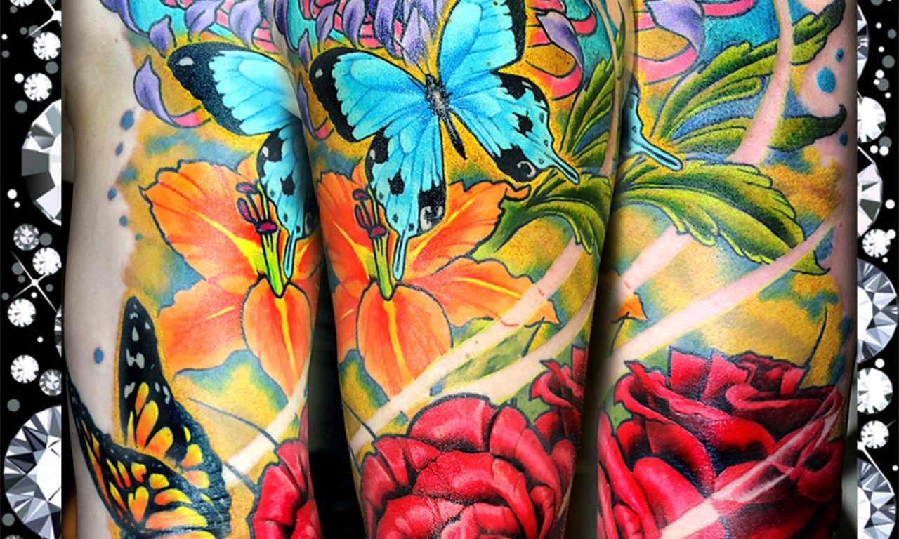 Fántastico tatuaje neo-tradicional y watercolor